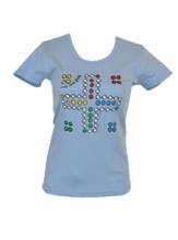 DAP SPORT triko dámské ČLOVĚČE - modrá