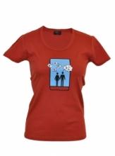 DAP SPORT triko dámské DVOJICE - terakota