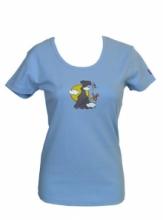 DAP SPORT triko dámské KLOVAJÍCÍ PTÁK - modrá