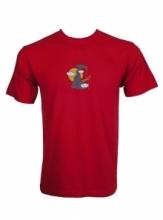 Dap Sport triko pánské Klovající Pták - červená