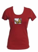 DAP SPORT triko dámské MOTÝL - terakota