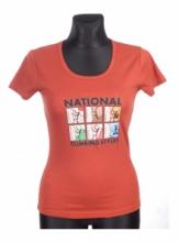 Dap Sport triko dámské Nations - terakota